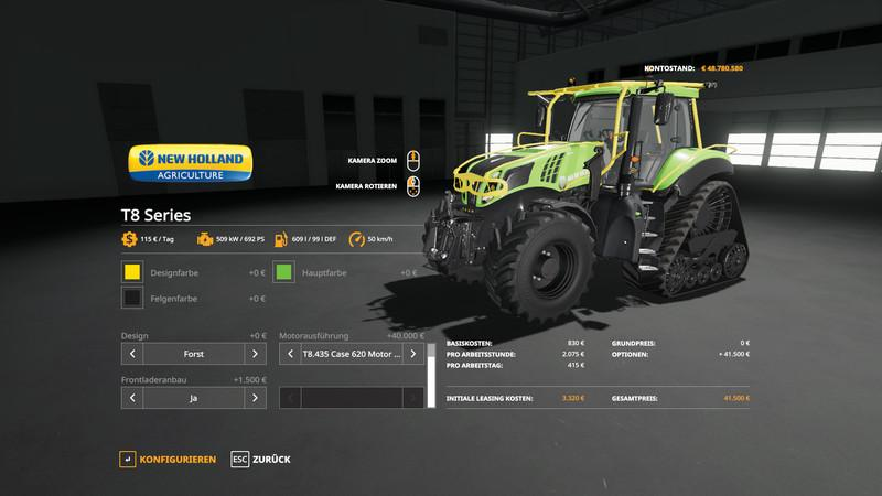 New Holland T8 Tractor Tuning v1 0 FS19